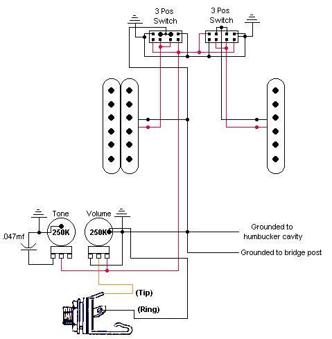 Схема распайки Fender Jag-Stang