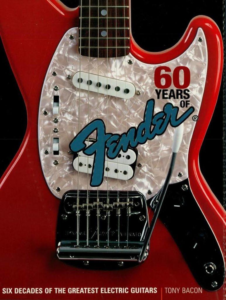 Fender Jag-Stang на обложке книги, посвященной 60 летию компании Fender.